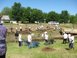 School Bio-Retention - Day of Service project